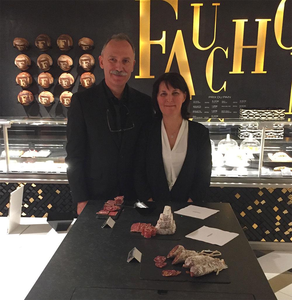 Patrick & Cathy Janes chez Fauchon à Paris